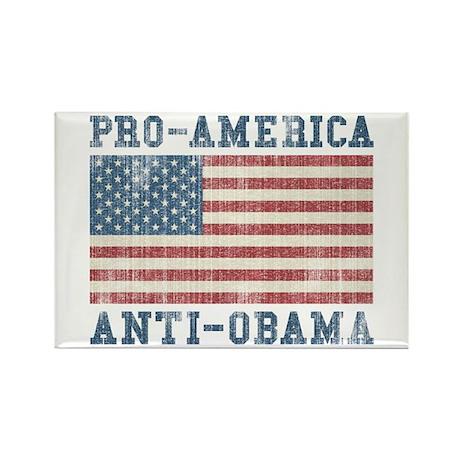 V. Pro-America Anti-Obama Rectangle Magnet
