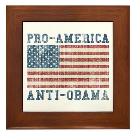 V. Pro-America Anti-Obama Framed Tile