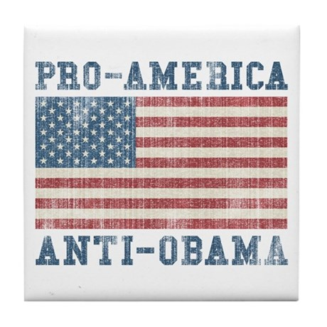 V. Pro-America Anti-Obama Tile Coaster