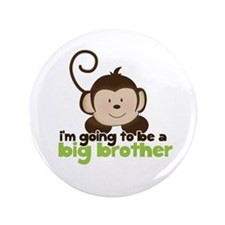 "Big Brother Pop Monkey Design 3.5"" Button"