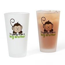 Big Brother Pop Monkey Design Drinking Glass