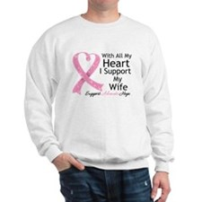 Heart Wife Breast Cancer Jumper
