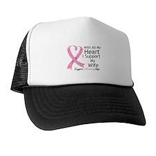 Heart Wife Breast Cancer Trucker Hat