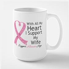 Heart Wife Breast Cancer Mug