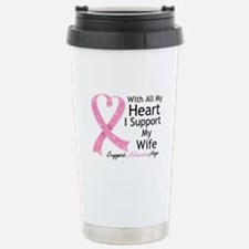 Heart Wife Breast Cancer Travel Mug
