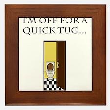 I'm off for a tug Framed Tile
