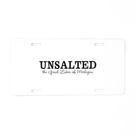 Michigan UNSALTED Aluminum License Plate