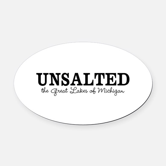 Michigan UNSALTED Oval Car Magnet