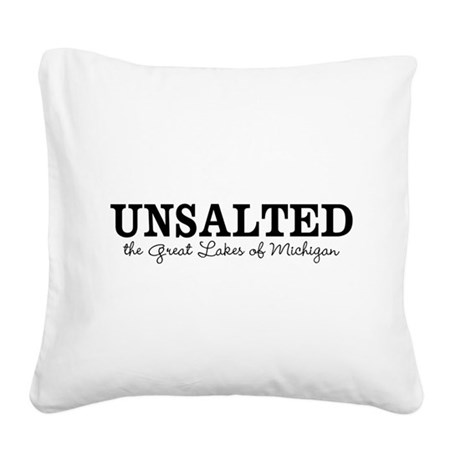 Michigan UNSALTED Square Canvas Pillow