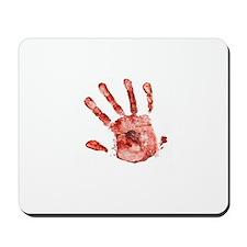 bloody handprint Mousepad