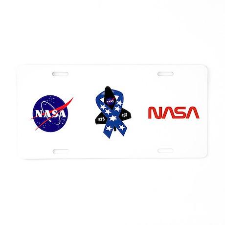 STS 107 Commemorative Aluminum License Plate