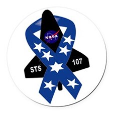 Sts 107 Commemorative Round Car Magnet