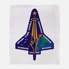 STS 107 Throw Blanket