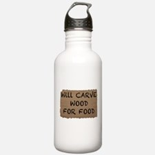 Will Carve Wood For Food Water Bottle