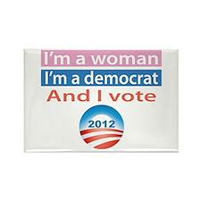 I'm a Woman, I'm a Democrat, and I Vote! Rectangle