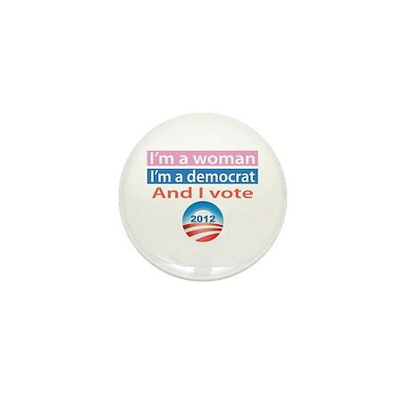 I'm a Woman, I'm a Democrat, and I Vote! Mini Butt