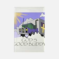 God's Good Buddy Rectangle Magnet