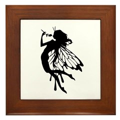 Rose Fairy Framed Tile