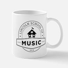 Lincoln School of Music logo - (white) Mug