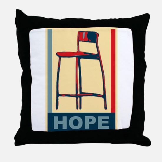 invisible obama hope Throw Pillow