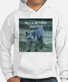Silver Fox over 50 Hoodie