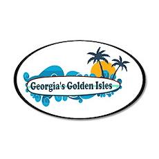 Golden Isles GA - Oval Design. Wall Decal