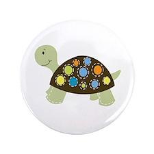 "Colorful Turtle 3.5"" Button"