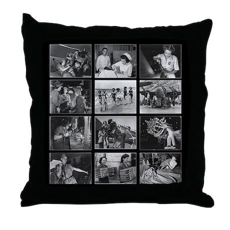 Women of WWII Throw Pillow