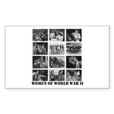 Women of WWII Rectangle Decal