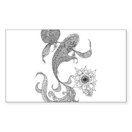 Kool Koi Sticker (Rectangle)