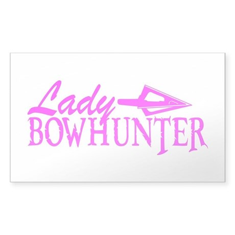LADY BOWHUNTER Sticker (Rectangle)