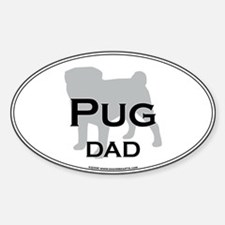 Pug DAD Oval Decal