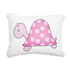 Girly Pink Turtle Rectangular Canvas Pillow