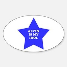 Alvin Is My Idol Oval Decal