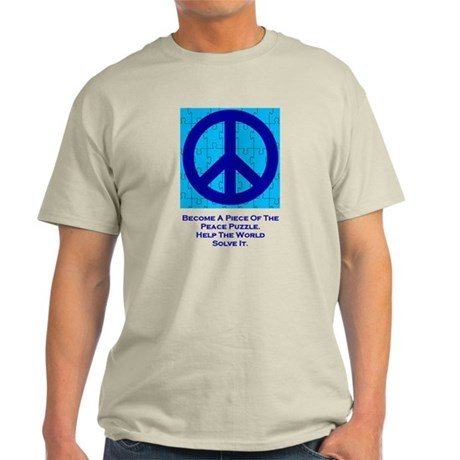 Become a piece of the peace puzzlle. Light T-Shirt