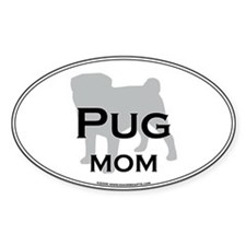 Pug MOM Oval Decal