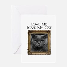 Love Me Love My Cat Greeting Card