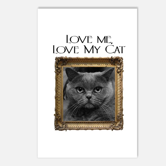 Love Me Love My Cat Postcards (Package of 8)