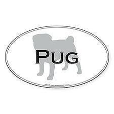 Pug Oval Decal