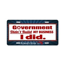Government Didn't Build My Business Aluminum Licen