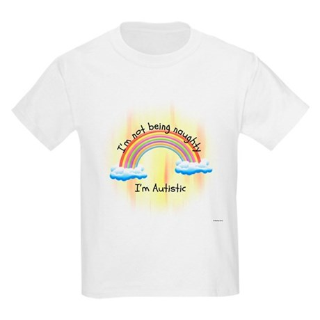 Not Naughty, Autistic: Kids Light T-Shirt