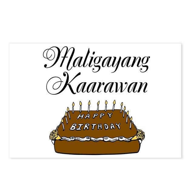 Happy Birthday Tagalog Postcards Package Of 8 By