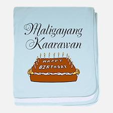 Happy Birthday (Tagalog) baby blanket