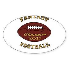 Fantasy Football Champion 2011 Decal