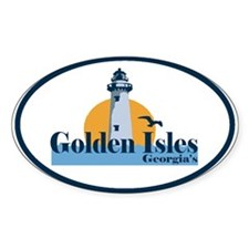 Golden Isles GA - Oval Design. Decal