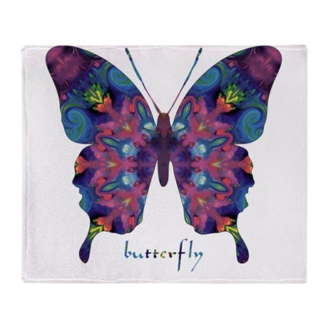 BFF Butterfly Throw Blanket
