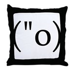 Side Shocked Anime Smiley Throw Pillow