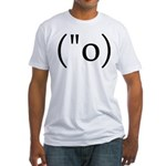 Side Shocked Anime Smiley Fitted T-Shirt