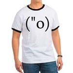 Side Shocked Anime Smiley Ringer T