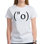 Side Shocked Anime Smiley Women's T-Shirt